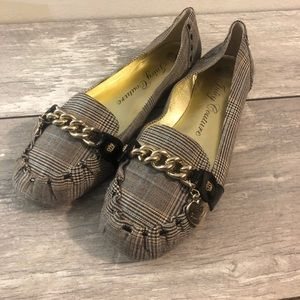JUICY COUTURE Gold Chain Charm Flats